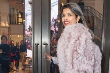 Deepa Pakianathan wearing Burberry at the opening of the Burberry flagship store in San Francisco (2)