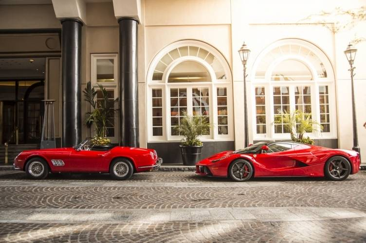 Ferraris in front of the Beverly Wilshire