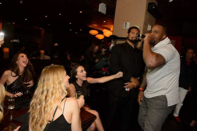 Glen 'Big Baby' Davis Impromptu Performance inside TAO Asian Bistro