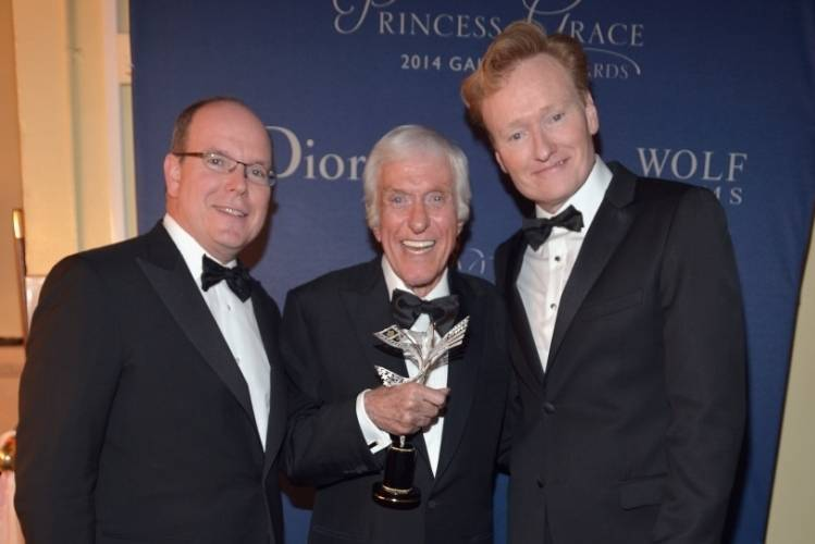 His Serene Highness Prince Albert II of Monaco, Dick Van Dyke, and Conan O'Brien