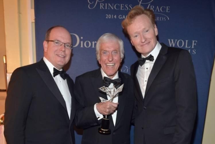His Serene Highness Prince Albert II of Monaco, Dick Van Dyke, and Conan O'Brien