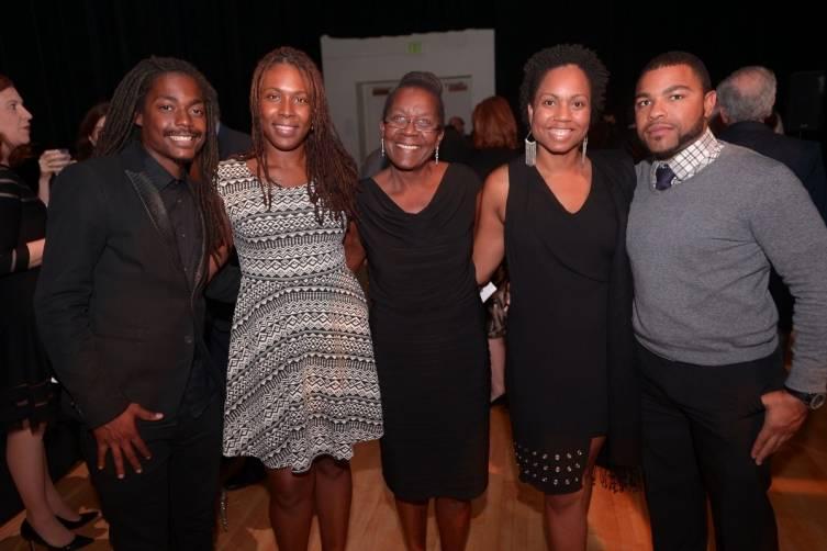 Jamal Charles, Karen Edouard, Mireille Louis Charles, Melody Charles, & Vladimir Gachelin at MCB Opening Night - Copy
