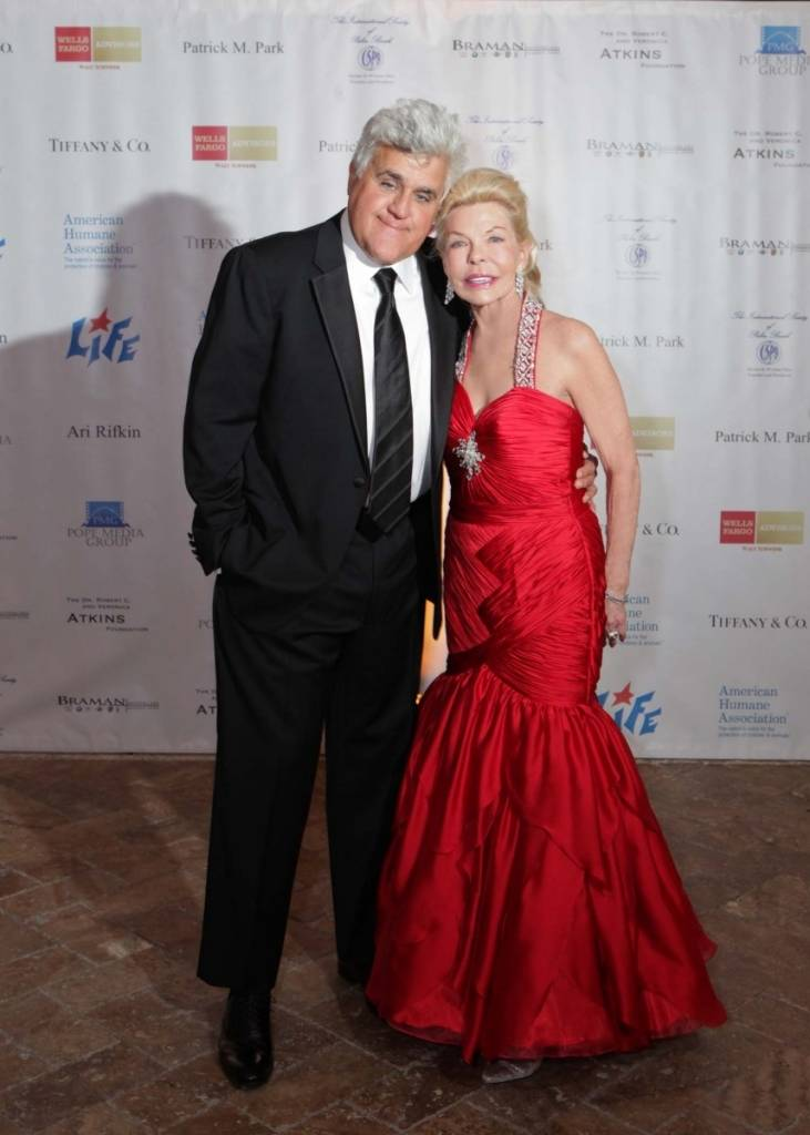 Jay Leno and Lois Pope at The Lady in Red Gala