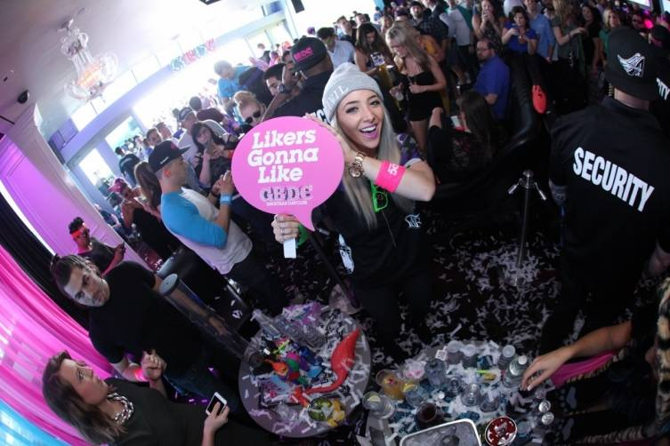 Jenna Marbles partying at Ghostbar Dayclub