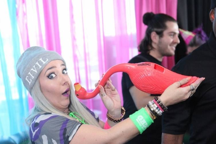 Jenna Marbles with flabongo