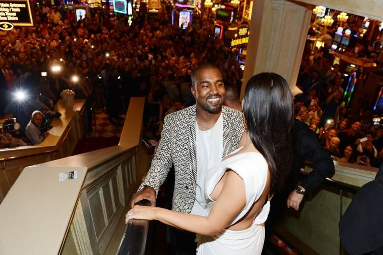 Kanye West and Kim Kardashian West at TAO Las Vegas. Photos: Denise Truscello/WireImage