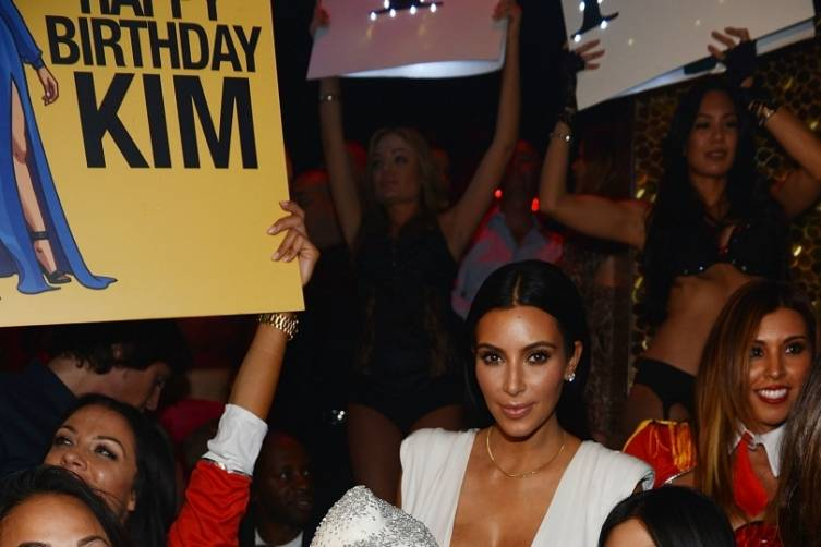 Kim Kardashian West Celebrates 34th Birthday at TAO Las Vegas