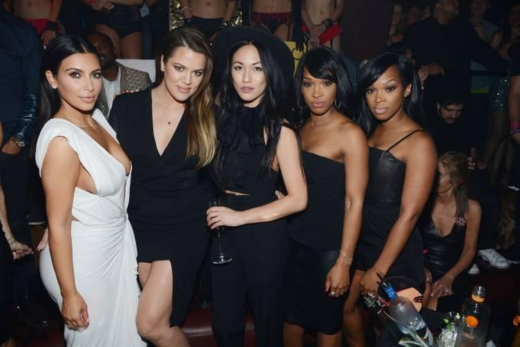 Kim Kardashian West, Khloe Kardashian, Stephanie Sheppard, Malika Haqq, Khadijah Haqq at TAO