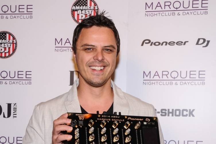 Markus Schulz with 24 Karat Gold Pioneer DJ Mixer