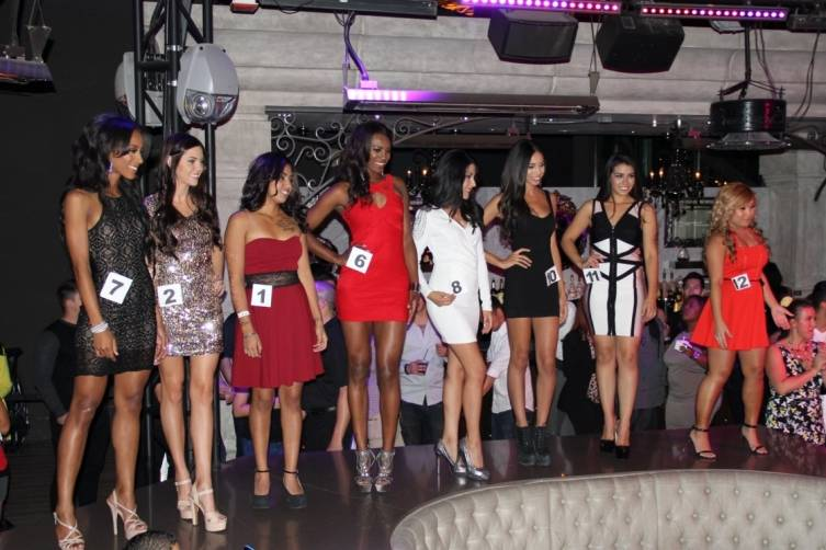 Miss Chateau Contestants on Stage