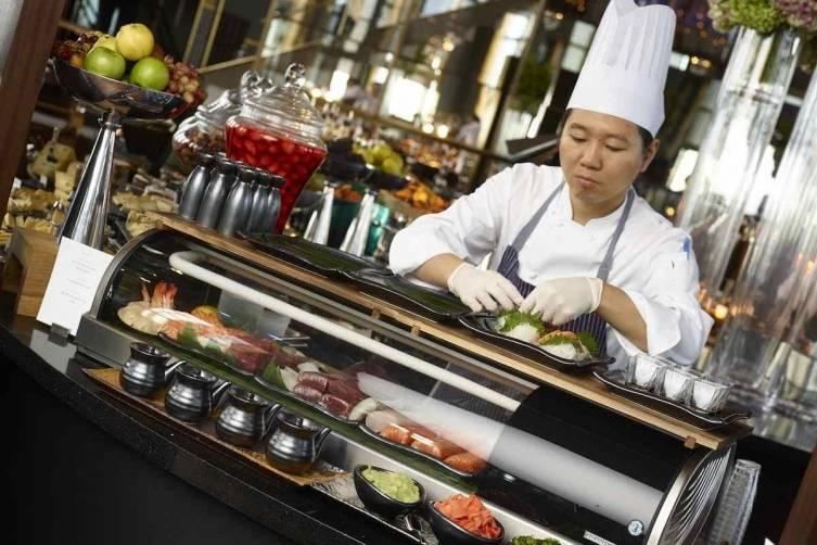 Rainbow Room_Brunch Sushi Bar_Photo Credit Bill Milne