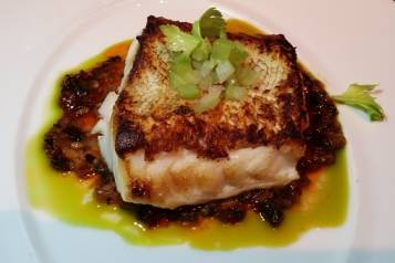 Roasted Black Cod with Malaysian Chili Sauce at J&G Grill