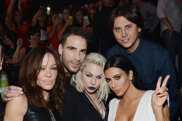 Robin Antin, Simon Huck, Joyce Bonelli, Kim Kardashian West and Jonathan Cheban at TAO