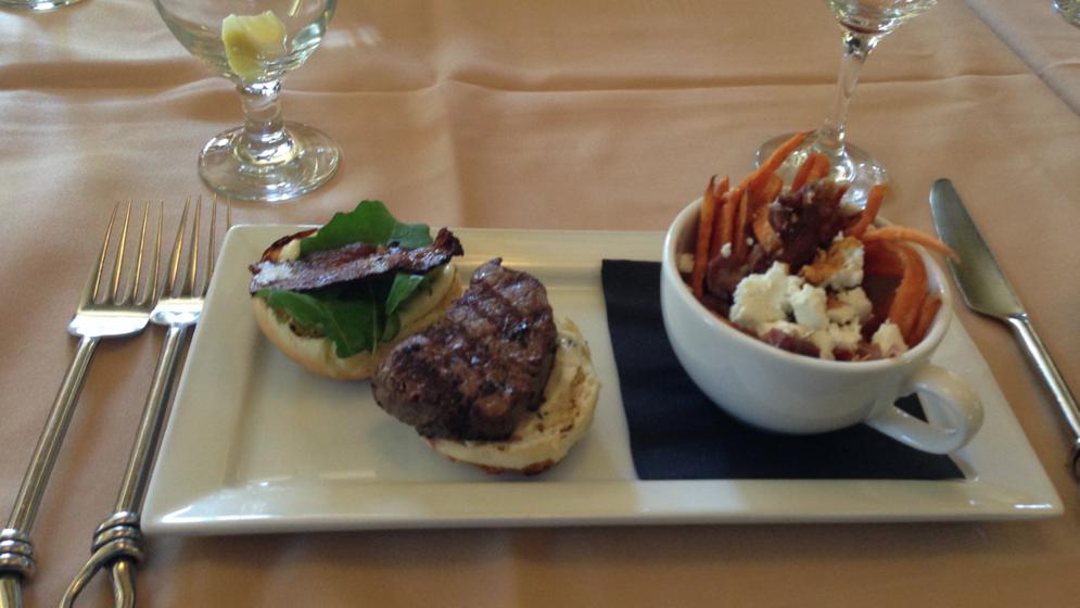 Farm-to-table lunch via Riverwalk Restaurant