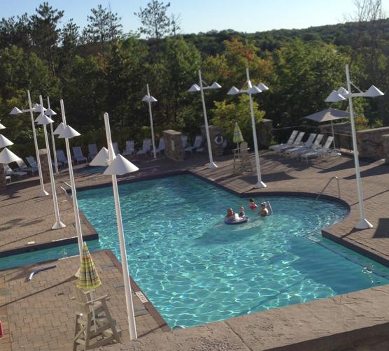 a pool at the JW Marriot Rosseau Muskoka