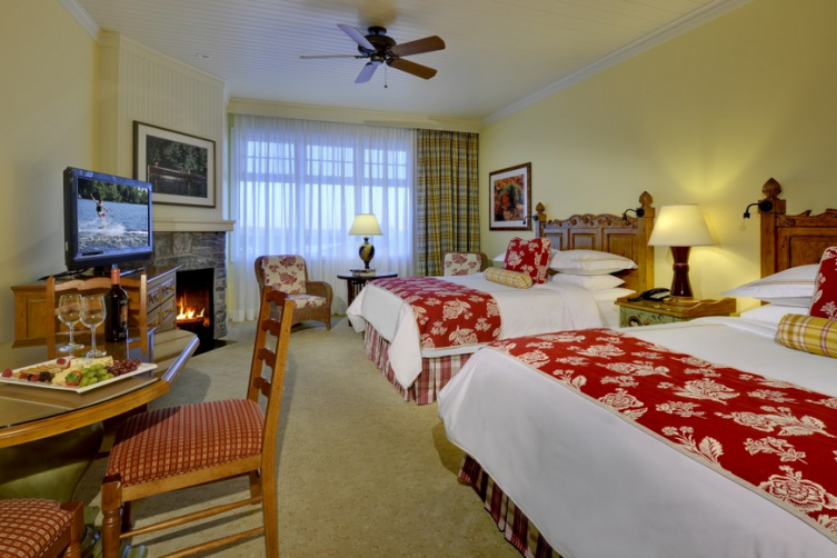 A room in the JW Marriot Rosseau Muskoka, image via Muskoka travel