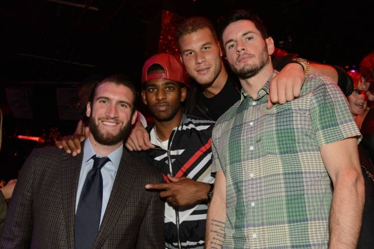 Spencer Hawes, Chris Paul, Blake Griffin, J.J. Redick at TAO Nightclub