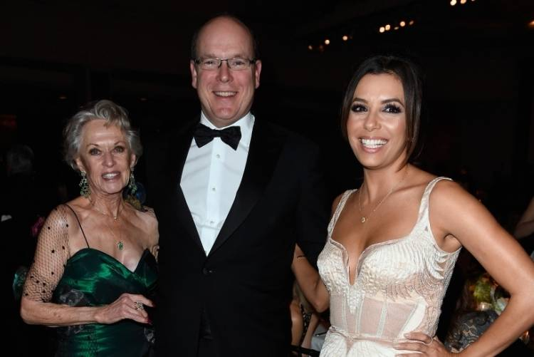 Tippi Hedren, His Serene Highness Prince Albert II of Monaco and Eva Longoria