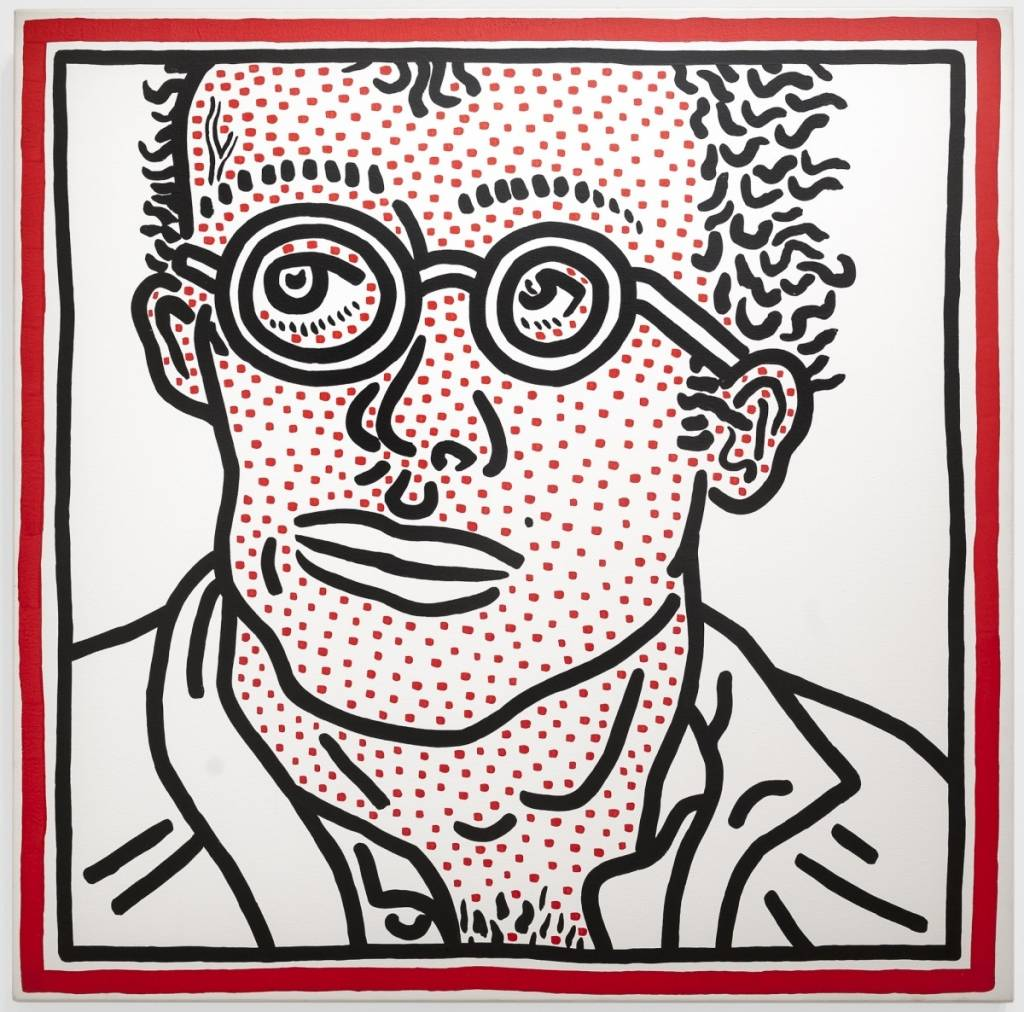 Keith Haring Untitled (Self-Portrait), February 2, 1985 Acrylic on canvas