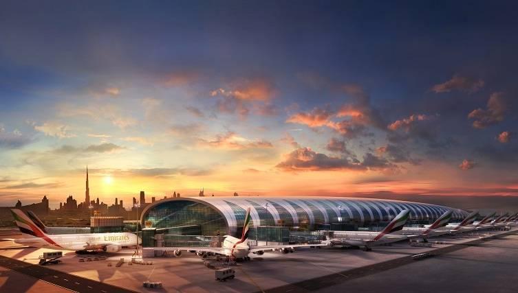 A380 Councourse A Dubai Skyline