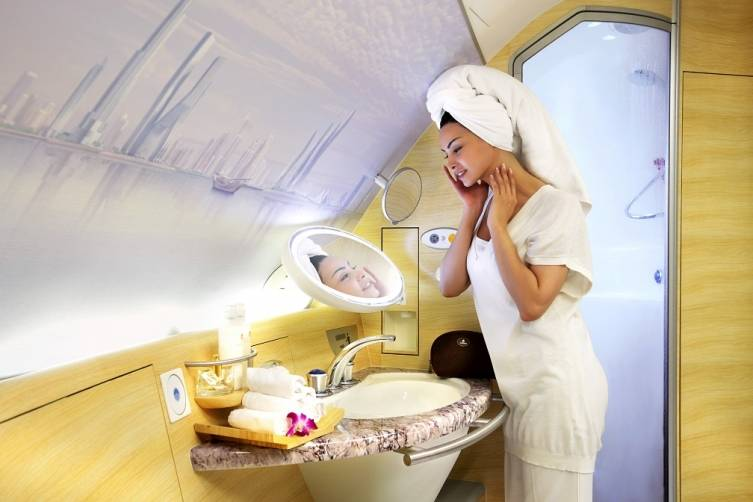 A380 Onboard Shower Spa