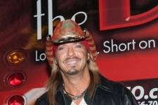Bret Michaels' poses for photos before taking the stage at the Downtown Las Vegas Events Center 11.7.14