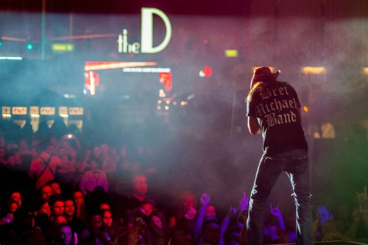 Bret Michaels whips the crowd into a frenzy at the Downtown Las Vegas Events Center 11.8.14