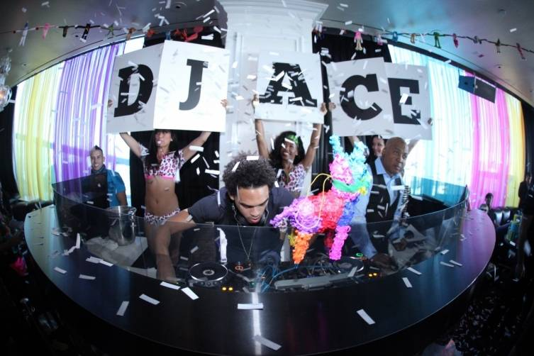 DJ Ace on the decks at GBDC (Photo by Joe Fury)