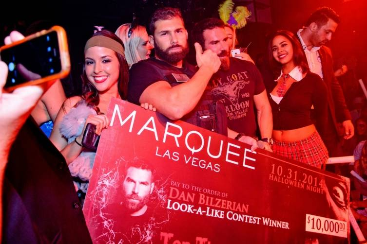 Dan Bilzerian Look-A-Like Contest Winner at Marquee