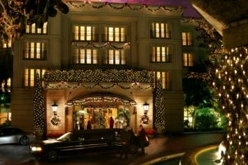 Exterior at Christmas