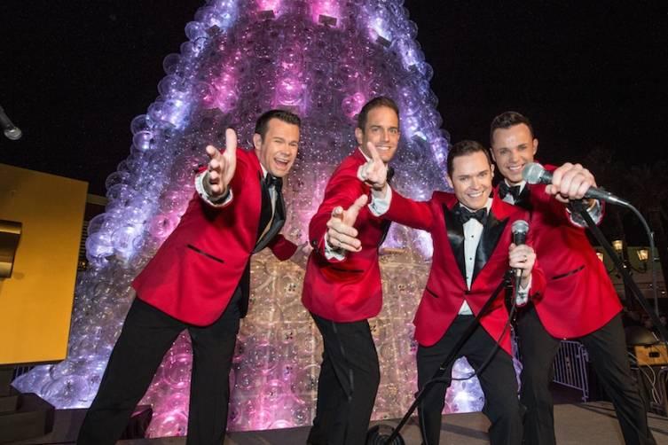 Huamn Nature Performs at the Christmas Tree Lighting at The Venetian Las Vegas