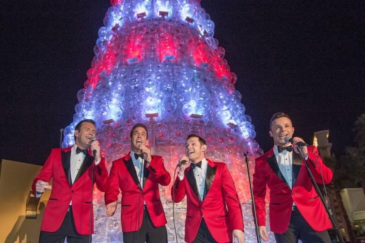 Human Nature Performs at The Venetian Las Vegas Christmas Tree Lighting
