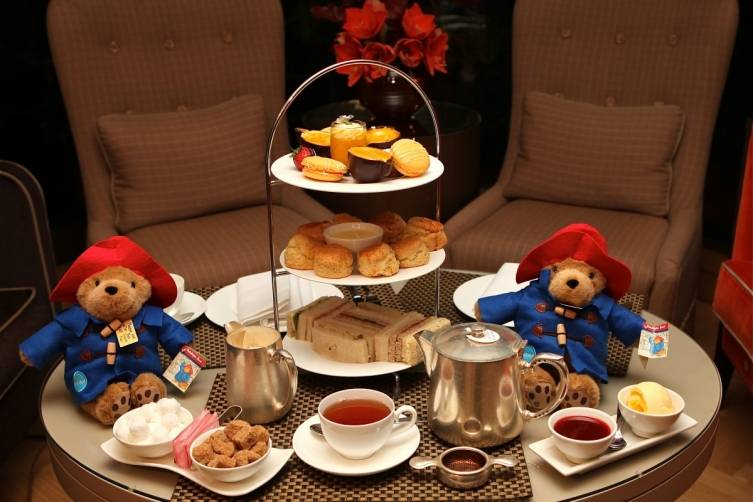 Afternoon tea with Paddington Bear