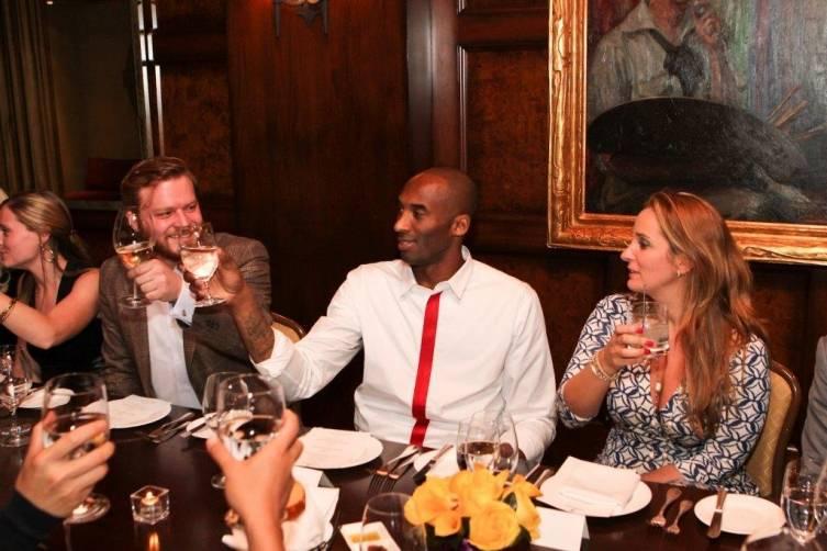 Kobe Bryant's VIP dinner