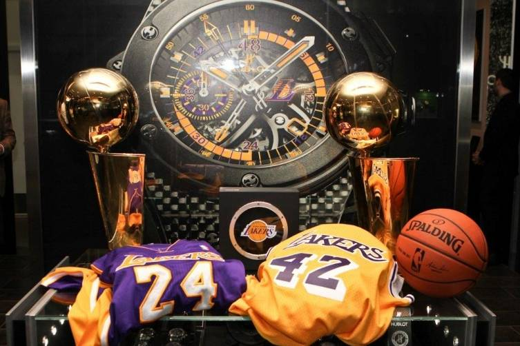 Lakers paraphernalia