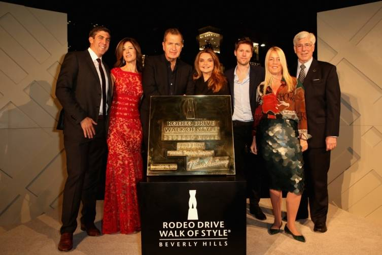 Mark Tronstein, Peri Ellen Berne, Mario Testino, Wanda McDaniel, Christopher Bailey, Lili Bosse & Julian Gold