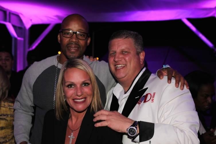 Rapper Warren G, Nicole Parthum and Derek Stevens at the D Las Vegas' VIP cabana at Life Is Beautiful Festival, 10.24.14