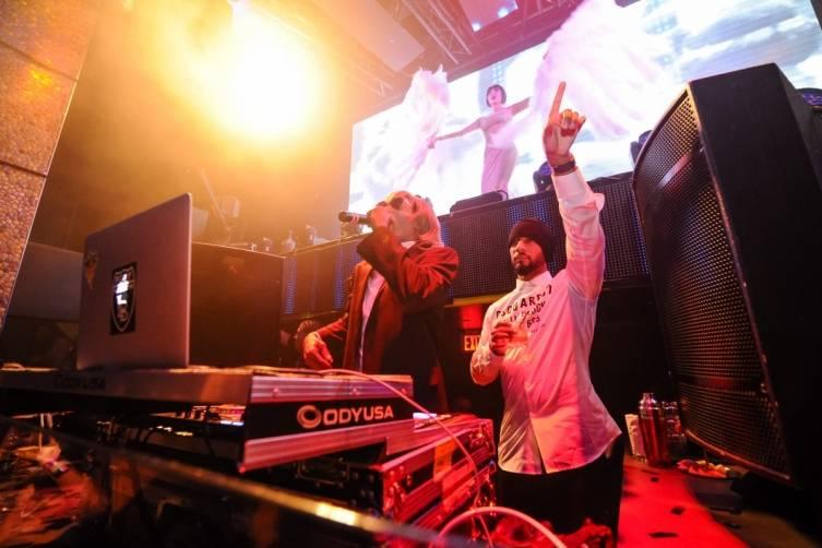 Snoop Dogg and Swizz Beatz at TAO. Photos: Brenton Ho/Powers Imagery