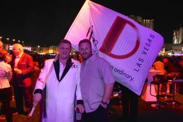Sons of Guns star Charles Watson with Derek Stevens at the D's VIP Cabana, 10.24.14