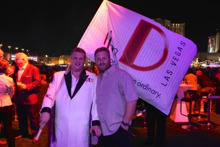 Sons of Guns star Charles Watson with Derek Stevens at the D's VIP Cabana, 10.24.14