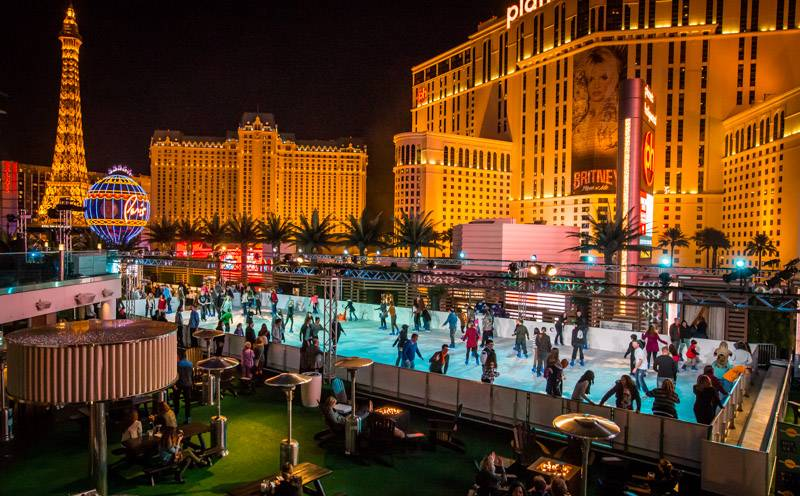 The Ice Rink Opens at Cosmopolitan of Las Vegas