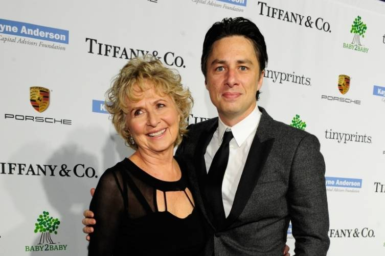 Zach Braff and his mother