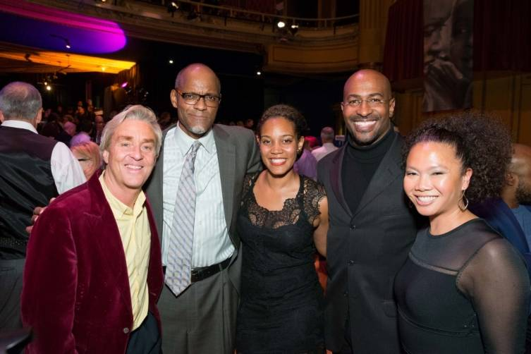 Jim Steyer, Gregory Hodge, Chinaka Hodge, Van Jones and Dori Caminong