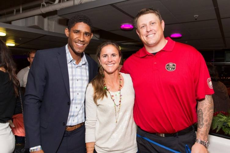 Khari Stephenson, Brandi Chastain, Barry Sims