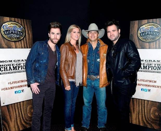 12.10.14 The Swon Brothers Meet with NFR Saddle Bronc Rider Bradley Harter at MGM Grand