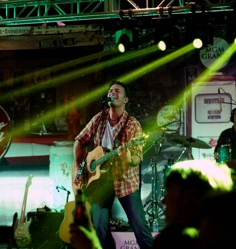 12.4.14 Lucas Hoge Performs at the Gold Buckle Zone at MGM Grand - Photo by Bryan Steffy
