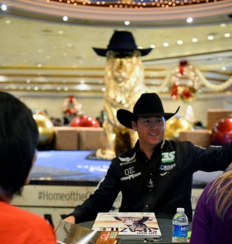 12.5.14 All-Around World Champion Trevor Brazile  at the Autograph Session at MGM Grand - Photo by Bryan Steffy