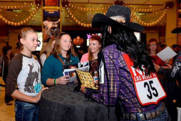 12.5.14 Barrel Racer Kassidy Dennison at the Autograph Session at MGM Grand - Photo by Bryan Steffy
