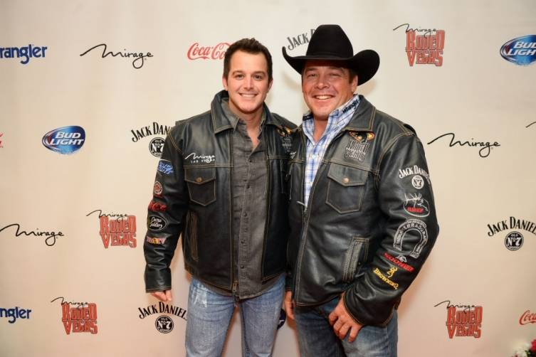 12.5.14 Easton Corbin and Rodeo Vegas Founder K.C. Jones Backstage at The Mirage - Photo by Al Powers, Powers Imagery