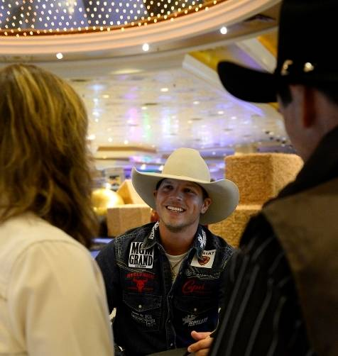 12.5.14 Saddle Bronc Rider Bradley Harter at the Autograph Session at MGM Grand - Photo by Bryan Steffy